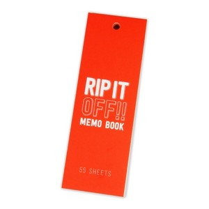 Lixtick RIP IT OFF - MEMO BOOK - NeonOrange