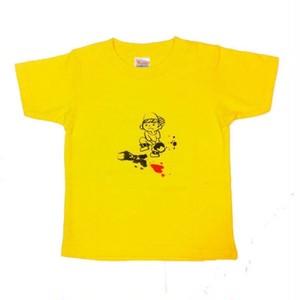 110cm キッズTシャツ イエロー