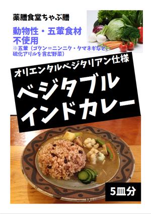 ベジタブルインドカレールゥ(5皿分)×4セット(ビーガン・オリエンタルベジタリアン仕様)