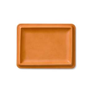 colm Leather Tray L Camel