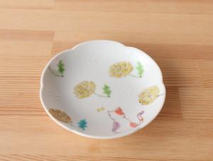 三毛猫みーちゃん(春) 小皿