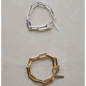 【アレルギー対応】Fit Chain Bracelet バングル ブレスレット シルバー925  プレーティング 大人可愛い チェーン シルバー ゴールド