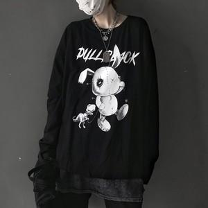 【tops】動物柄カジュアルアルファベットTシャツ23178445