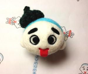 【季節限定】こにゅうどうくん羊毛フェルトバッジ(とんがり帽子:グリーン)