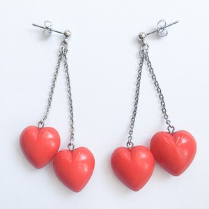double heart dangle pierce[p-404]
