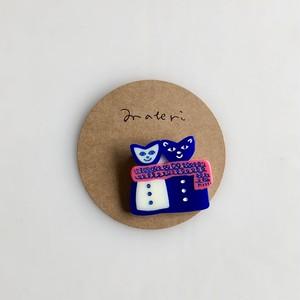 matei アクリルブローチ(ミズノマサミ) Cats-A