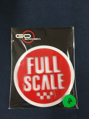3Dゴーバッジ  8番  FULL SCALE RED2
