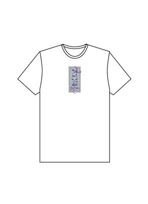 4s4ki × THE TEST コラボレーション 護符Tシャツ(白)