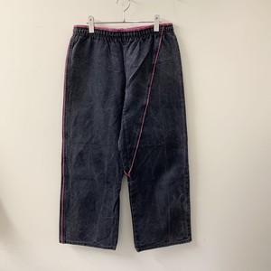 CENTURY コットン イージーパンツ ブラック/ピンク size M USA製 メンズ 古着