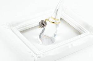 ラインストーンパヴェボール ピンキーリング ブラックダイヤモンド pve-ringblackdiamond1 指輪 パヴェ