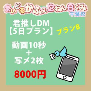 ☆きみ推しDM☆【5日プラン】プランB 動画10秒+写メ2枚