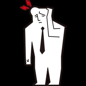 頭の痛い男性会社員