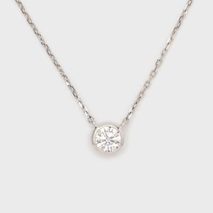 ENUOVE frutta Diamond Necklace Pt950(イノーヴェ フルッタ 0.25ct プラチナ950 フクリン留めダイヤモンドネックレス アジャスターワカンチェーン)