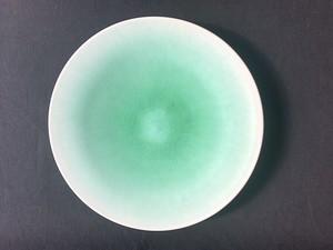岩崎龍二 アイスグリーン 8寸 平皿