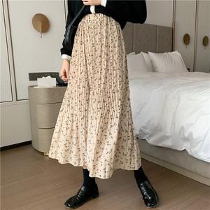 【送料無料】レトロ♡シフォンロングフレアスカート♡