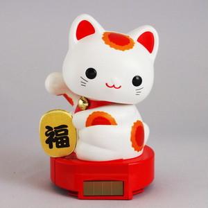 ソーラー赤ちゃん招き猫 (赤)