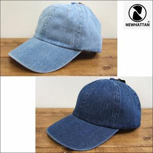 NEWHATTAN ニューハッタン デニムキャップ ベースボールキャップ 帽子 デニム 男女兼用 NWHT-H1155