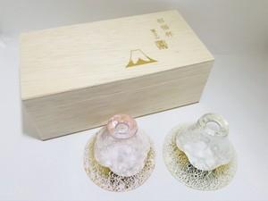 金箔富士山 ペア冷酒グラス【木箱入り】 /FiloRosso