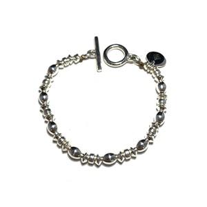 STEADY HIGH/ステディハイ Silver beads bracelet-C