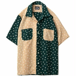 DRESS HIPPY(ドレスヒッピー)/DOT CRAZY  S/S SHIRT (GREEN)