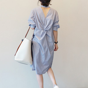 【dress】ファッション切り替え透かし彫りデートワンピース21862670