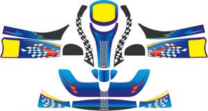 レーシングカート用 カウルステッカー フリーライン用1 特注品
