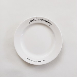 GOODMORNIG mini plate