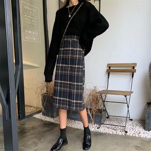 タータンチェックロングスカート