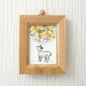 小さな複製画 *ほしくずと鹿