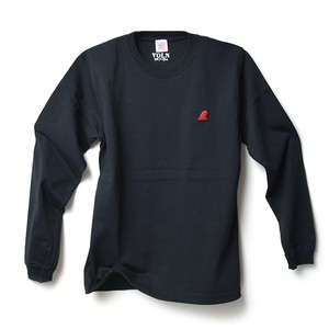 RED FIN HEAVY WEIGHT L/S T-SHIRT - BLACK