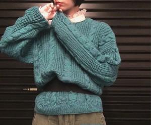 vintage blue knit
