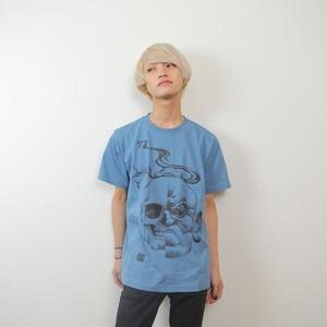 金剛髑髏図Tee【ブルー】