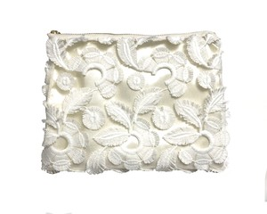 【 Re:n 】Flower tulle lace pouch