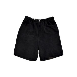 WEST OVERALLS Suede Easy Shorts Black 19SWPT04S