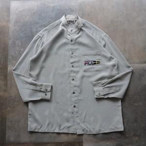 FILA stand‐up collar shirt