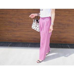 カラーウエストタックパンツ(ピンク)|A04290