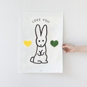 bunny fabric poster / バニー ファブリックポスター ウサギ 韓国雑貨 北欧