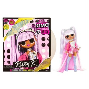 送料無料 クリスマスラッピング袋入り L.O.L. Surprise! O.M.G. Remix Kitty K Fashion Doll – 25 Surprises with Music