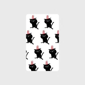 帽子をかぶったハナペちゃん(黒)  モバイルバッテリー microUSBケーブル(蓄電用コード)