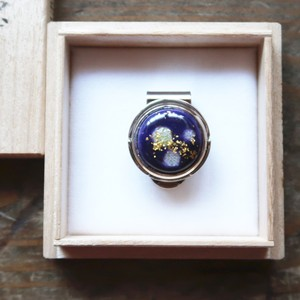 ゴルフマーカー 「紫 色映え」七宝マーカー グリーン上の宝石