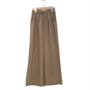 Shiny Straight Pants  Color : Beige