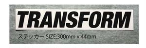 TRANSFORM カッティングステッカー(BLACK/WHITE)