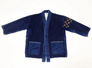 20SS 刺し子風インディゴドビーキモノシャツ / Sashiko like dobbie kimono shirts
