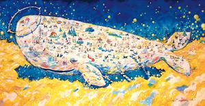 [185]大判ポストカード 白い天国のクジラ