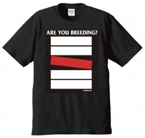 moke(s) 「ARE YOU BREEDING?」Tシャツ BLACK