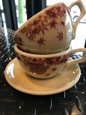 有田焼オリジナルカップ7oz紅葉柄ロゴ有り(送料・税込)