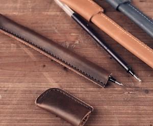 送料無料【ペンカバー】合皮 レザー 革 革製/ ボールペン カバー 1本収納 シンプル ビジネス