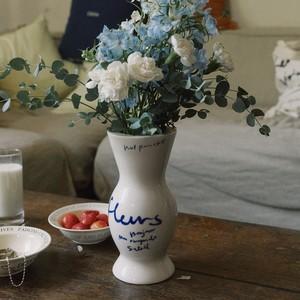 Fleurs vase (ivory) / Late  Bloomer Vase (natural) / セラミック ベース オブジェ 花瓶 韓国雑貨
