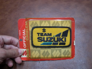 TEAM SUZUKI OFFICIAL EMBLEM Vintage Patch