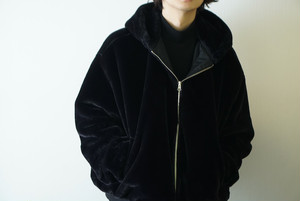 Black bore blouson